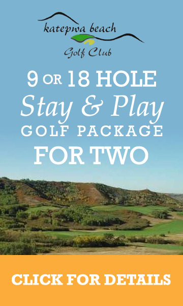 9 or 18 Hole 2 Person sundays log cabins stay and play promotion at katepwa beach golf club